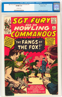 Sgt. Fury and His Howling Commandos #6 Western Penn Pedigree(Marvel, 1964) CGC VF/NM 9.0 Off-white pages