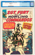 Silver Age (1956-1969):War, Sgt. Fury and His Howling Commandos #9 (Marvel, 1964) CGC NM- 9.2 Off-white pages....