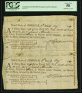 Colonial Notes:Maryland, Maryland Continental Loan Office Bill of Exchange Uncut Pair PCGSAbout New 50.. ...