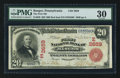National Bank Notes:Pennsylvania, Bangor, PA - $20 1902 Red Seal Fr. 639 The First NB Ch. # (E)2659....