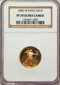 Modern Bullion Coins, 2006-W $10 Quarter-Ounce Gold Eagle PR70 Ultra Cameo NGC. NGC Census: (0). PCGS Population (355). Numismedia Wsl. Price fo...