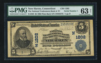 New Haven, CT - $5 1902 Plain Back Fr. 598 The National Tradesmens Bank and Trust Company Ch. # (N)1202