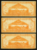 Miscellaneous:Other, Panama California Exposition San Diego, California Forty Nine Camp25 Bucks 1915 Three Examples.. ... (Total: 3 notes)