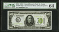 Small Size:Federal Reserve Notes, Fr. 2201-H $500 1934 Light Green Seal Federal Reserve Note. PMG Choice Uncirculated 64.. ...