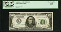 Fr. 2200-L $500 1928 Federal Reserve Note. PCGS Extremely Fine 45