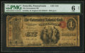 National Bank Notes:Pennsylvania, Pottsville, PA - $1 Original Fr. 380a The Government NB Ch. # 1152....