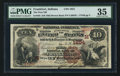 National Bank Notes:Indiana, Frankfort, IN - $10 1882 Brown Back Fr. 485 The First NB Ch. # (M)1854. ...