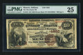 National Bank Notes:Indiana, Muncie, IN - $10 1882 Brown Back Fr. 483 The Merchants NB Ch. # (M)4852. ...