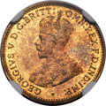 British West Africa, British West Africa: George V tin-brass Proof 3 Pence 1933 PR65NGC,...