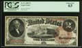 Large Size:Legal Tender Notes, Fr. 51 $2 1880 Legal Tender PCGS Choice New 63.. ...