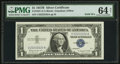 Small Size:Silver Certificates, Solid 2 Serial Number Fr. 1621 $1 1957B Silver Certificate. PMG Choice Uncirculated 64 Net.. ...