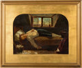 Books:Original Art, After HENRY WALLIS (1830-1916). The Death of Chatterton. Oilon board, mid to late 19th century.. ...