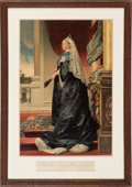 Books:Prints & Leaves, Her Most Gracious Majesty Victoria. Color lithograph, ca.1890.. ...