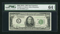 Small Size:Federal Reserve Notes, Fr. 2202-L $500 1934A Mule Federal Reserve Note. PMG Choice Uncirculated 64 EPQ.. ...