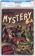 Golden Age (1938-1955):Horror, Mister Mystery #1 (Aragon, 1951) CGC FN- 5.5 Cream to off-whitepages....