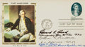 Autographs, First Day Cover Signed by Three U.S. Naval Figures....