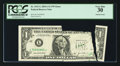 Error Notes:Printed Tears, Fr. 1931-L $1 2003A Federal Reserve Note. PCGS Very Fine 30.. ...