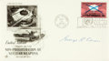 Autographs:Military Figures, [Enola Gay]. George R. Caron Signed First Day Cover...
