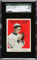 Baseball Cards:Singles (Pre-1930), 1915 Cracker Jack Ed Walsh #36 SGC 88 NM/MT 8....