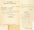 Autographs:Authors, Group Lot of Five Autographs by Authors and Poets as Follows:...