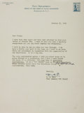 Autographs:Military Figures, Admiral Richard E. Byrd Typed Letter Signed....