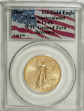 Modern Bullion Coins, 2001 G$25 Half-Ounce Gold Eagle Gem Uncirculated PCGS. 9-11-01. WTCGround Zero. PCGS Population (0/1949). NGC Census: (0/0...