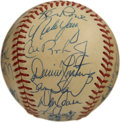 Autographs:Baseballs, 1985 Baltimore Orioles Team Signed Baseball. The 1985 BaltimoreOrioles finished fourth in the division despite plenty of s...