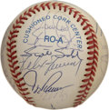 Autographs:Baseballs, 1992 Cleveland Indians Team Signed Baseball. The OAL (Brown)baseball offered exhibits the signatures of the 1992 Clevelan...