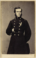 Military & Patriotic:Civil War, Major Edward Curtis, Army Medical Staff CDV....