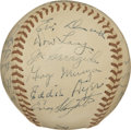 Autographs:Baseballs, 1948 St. Louis Cardinals Team Signed Baseball. The 1948 St. LouisCardinals added signatures to the ONL (Frick) baseball. A...