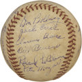 Autographs:Baseballs, 1948 Houston Buffaloes Team Signed Baseball. The 1948 HoustonBuffaloes was a AA farm team of the St. Louis Cardinals that ...