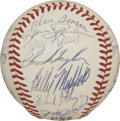 Autographs:Baseballs, 1970 St. Louis Cardinals Team Signed Baseball. The ONL (Feeney)baseball has the honor of hosting the signatures of the 197...