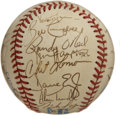Autographs:Baseballs, 1986 Detroit Tigers Team Signed Baseball. Offered is a OAL (Brown)baseball carrying the signatures of the 1986 Detroit Tig...