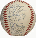 Autographs:Baseballs, 1989 New York Mets Team Signed Baseball. Despite the bet efforts ofmanager Davy Johnson, the 1989 Mets finished 2nd in the...