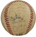 Autographs:Baseballs, 1987 Houston Astros Team Signed Baseball. The offered ONL (Feeney)baseball carries the weight of signatures of the 1987 Ho...