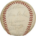 Autographs:Baseballs, 1979 New York Mets Team Signed Baseball. Joe Torre's boys from the1979 New York Mets squad appear here in the form of 25 s...