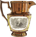 Political:3D & Other Display (pre-1896), Andrew Jackson: A Very Choice Example of the Popular Copper Luster Pitcher....