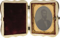 """Photography:Ambrotypes, Abraham Lincoln: A Unique Ambrotype Image in a Remarkable Inlaid Wood """"Union"""" Case...."""