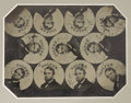 Political:Ferrotypes / Photo Badges (pre-1896), Schuyler Colfax: Original Uncut Sheet of Tintype Images for Ferrotype Badges....