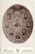 Military & Patriotic:Civil War, CABINET CARD OF PRESIDENT LINCOLN AND HIS CABINET, 1865....