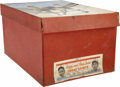 Baseball Collectibles:Others, Vintage Dizzy and Paul Dean Sweatshirt Box. From the mid-1930s wepresent this vintage box that was originally used to hous...
