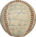 Autographs:Baseballs, 1960 St. Louis Cardinals Team Signed Baseball. Star-studded ONL(Giles) baseball that we present here has been adorned with...