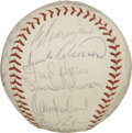 Autographs:Baseballs, 1969 Baltimore Orioles Team Signed Baseball. What we offer hereamounts to twenty-seven signatures from the star-laden 1969...