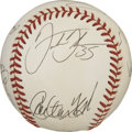 Autographs:Baseballs, 1991 Chicago white Sox Team Signed Baseball. Exceptionally cleanOAL (Brown) orb made available here sports the signatures ...