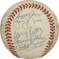 Autographs:Baseballs, 1985 California Angels Team Signed Baseball. The 1985 CaliforniaAngels, led by manager Gene Mauch finished 2nd in the divi...