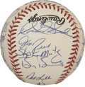 Autographs:Baseballs, 1995 San Francisco Giants Team Signed Baseball. A total of 25signatures from the '95 San Francisco Giants appear on the of...