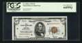 Low Serial Number Fr. 1850-A $5 1929 Federal Reserve Bank Note. PCGS Very Choice New 64PPQ