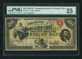 Large Size:Compound Interest Treasury Notes, Fr. 191a $20 1864 Compound Interest Treasury Note PMG Very Fine25.. ...