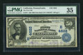 National Bank Notes:Pennsylvania, California, PA - $50 1902 Date Back Fr. 671 The First NB Ch. #(E)4622. ...