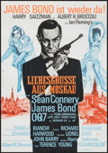 "Movie Posters:James Bond, From Russia with Love (United Artists, R-1970s). German A1 (23.25"" X 33""). James Bond.. ..."